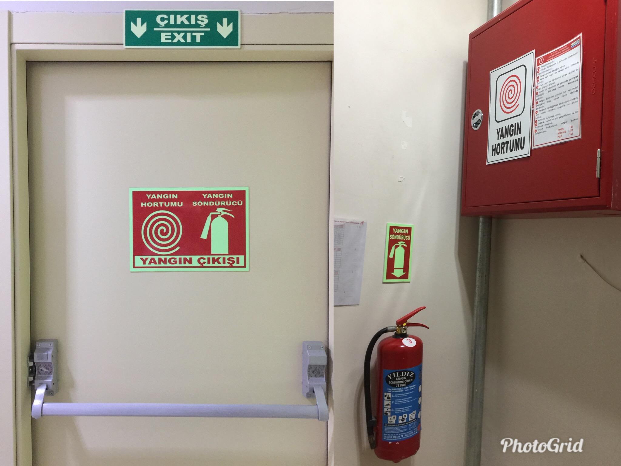 Yangın güvenlik önlemleri